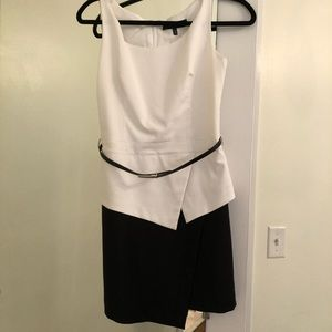 Black and white new with tags asymmetrical dress